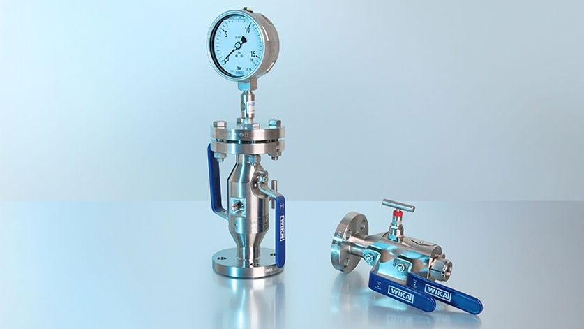 Combinaison d'un appareil de mesure de pression avec des accessoires