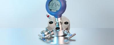 Monoflange WIKA type IVM monté sur un transmetteur de pression type UPT