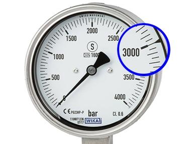 Manomètre haute pression PG23HP-P