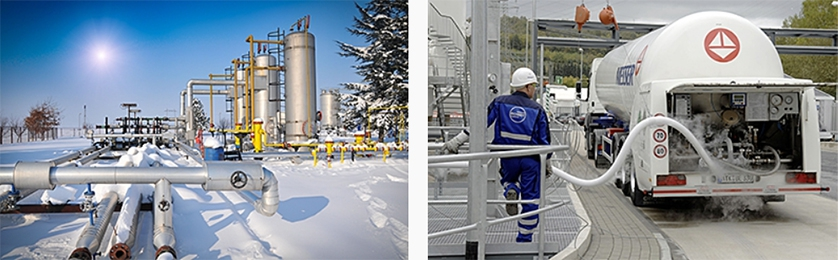 Cold environments and liquid gases